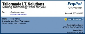 Tailormade IT Solutions Gift Voucher